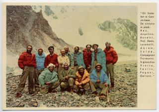 I membri della spedizione al K2 del 1954.
