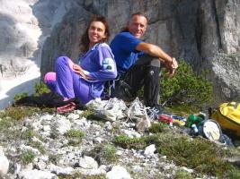 Marino Babudri e Ariella Sain.
