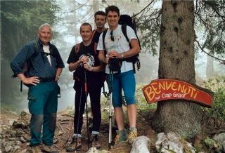 Da sinistra: Cirillo Floreanini, Giuseppe Astori, Fabio Galante e Moreno Bertossi.