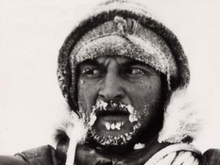 Ignazio Piussi in Antartide.